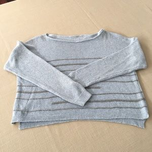 Sweater blue with grey strips